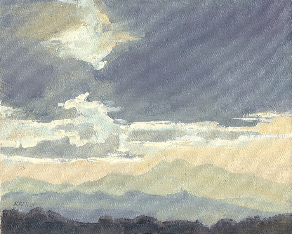 """Gray Clouds"" original fine art by Kath Reilly"