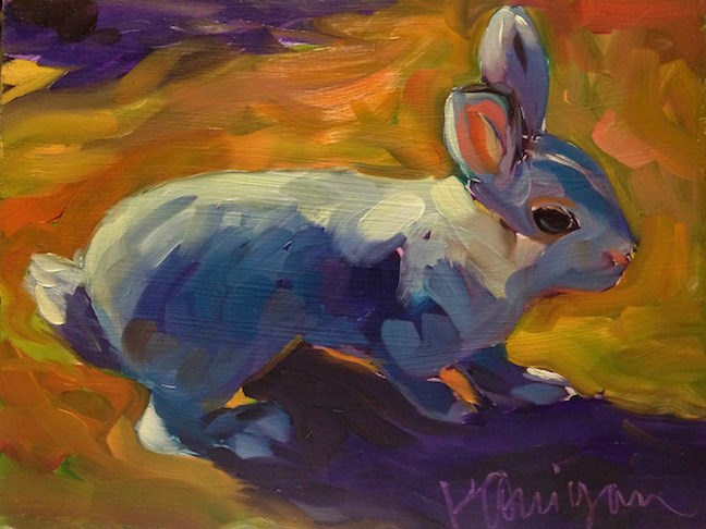 """March 27, Easter Sunday Bunny!"" original fine art by Kat Corrigan"