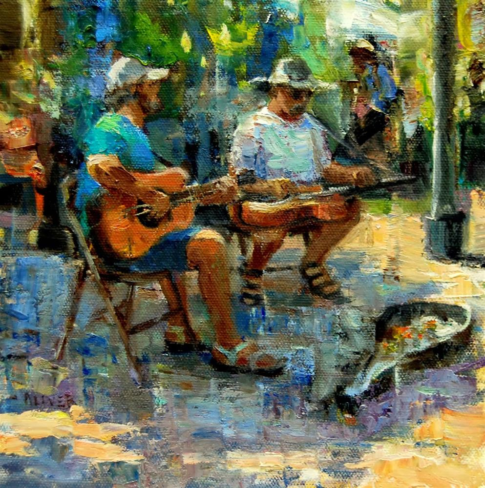 """Farmers Market #23 - Musicians"" original fine art by Julie Ford Oliver"