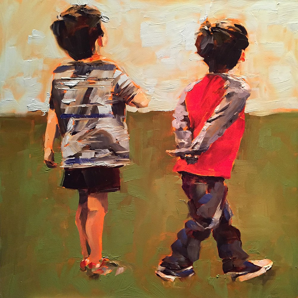 """brothers"" original fine art by Kim Smith"