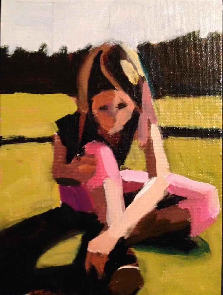 """Pink Pants"" original fine art by Pamela Hoffmeister"