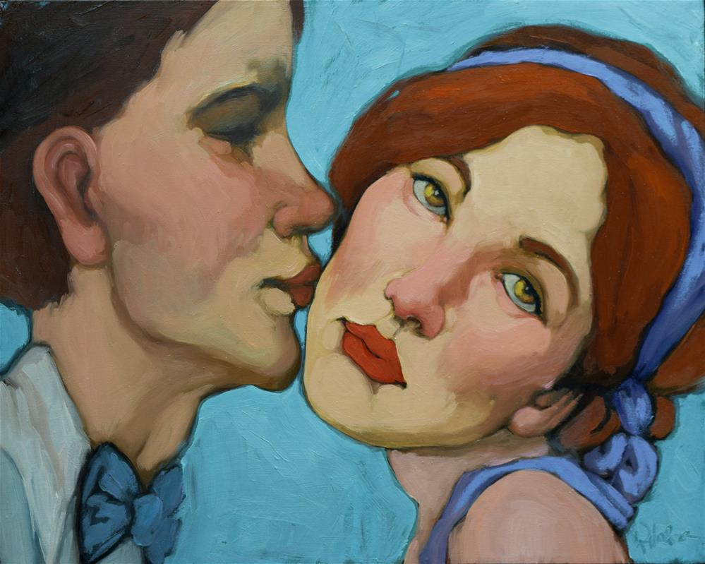 """The Kiss"" original fine art by Kayleen Horsma"