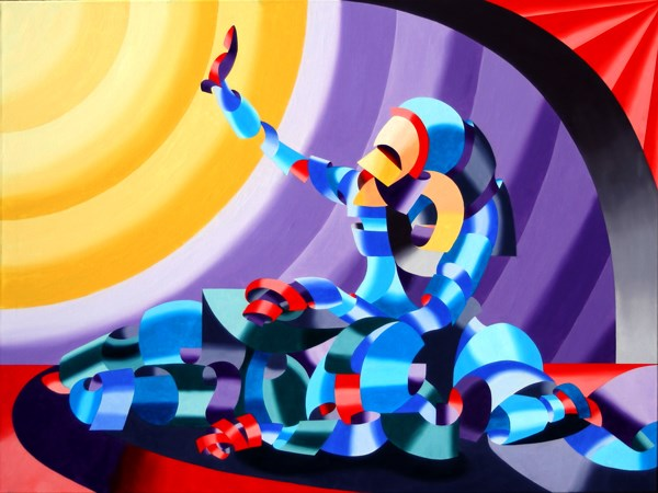 """""""Mark Webster - Jesse and Shandra - Abstract Nude Figurative Oil Painting"""" original fine art by Mark Webster"""