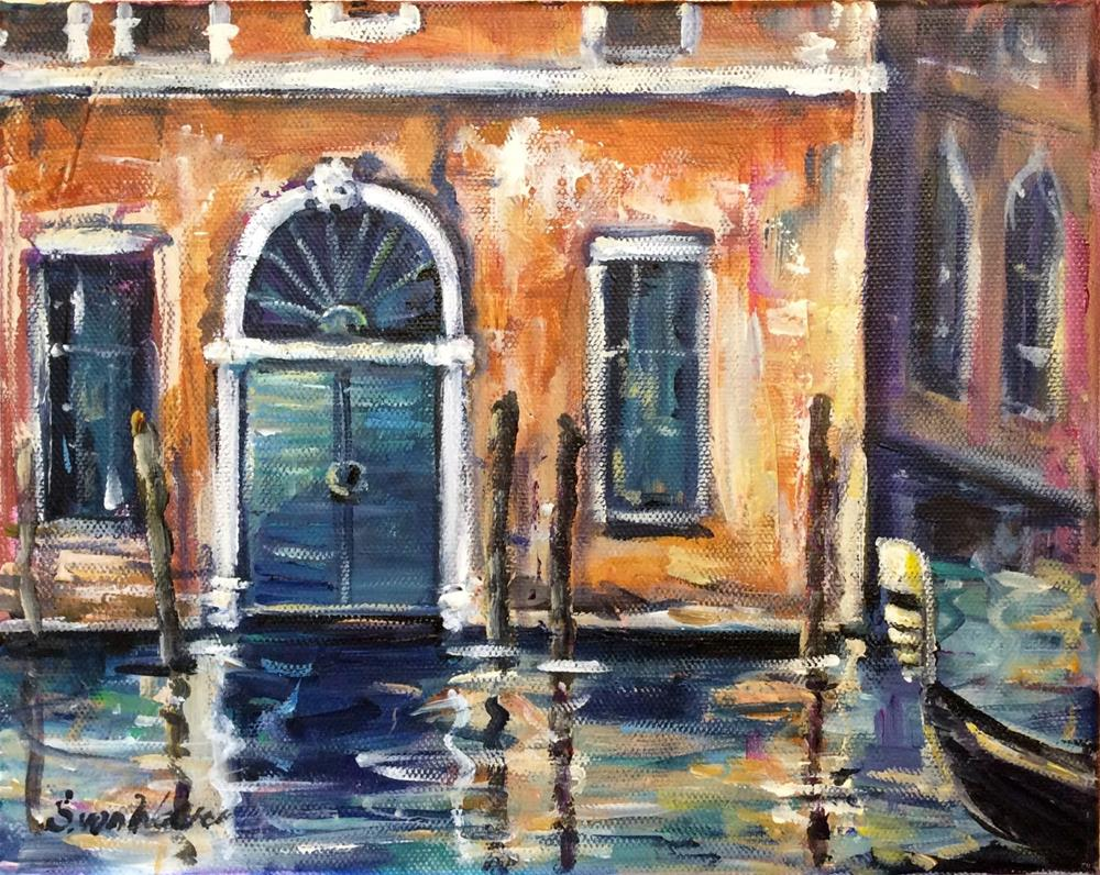 """Venetian moment 2"" original fine art by Sonia von Walter"