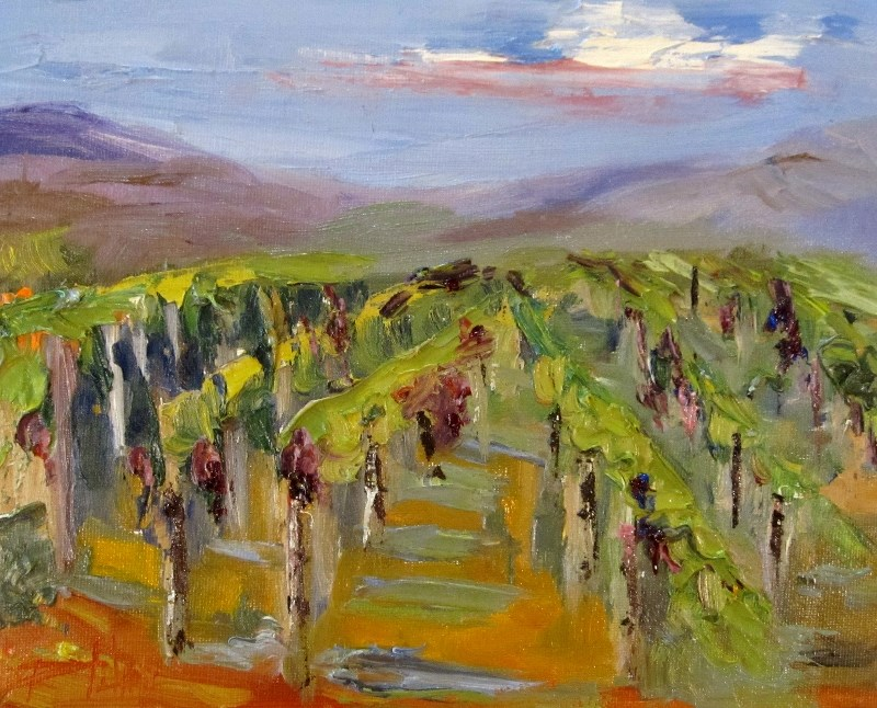 """Vineyard"" original fine art by Delilah Smith"