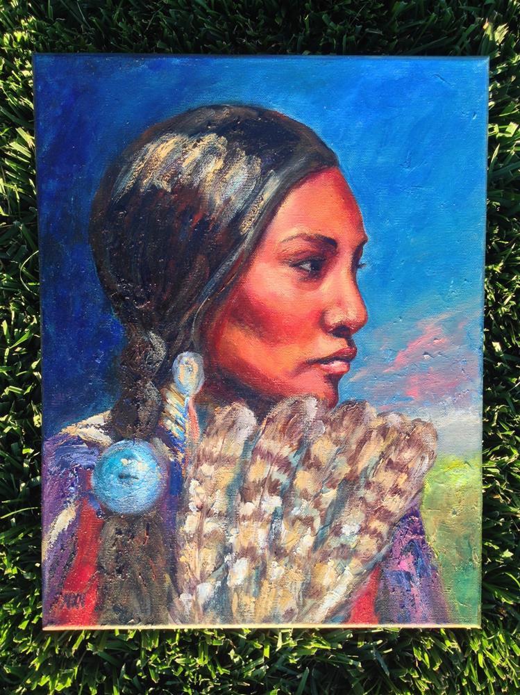 """The Princess"" original fine art by Nina K. Nuanes"