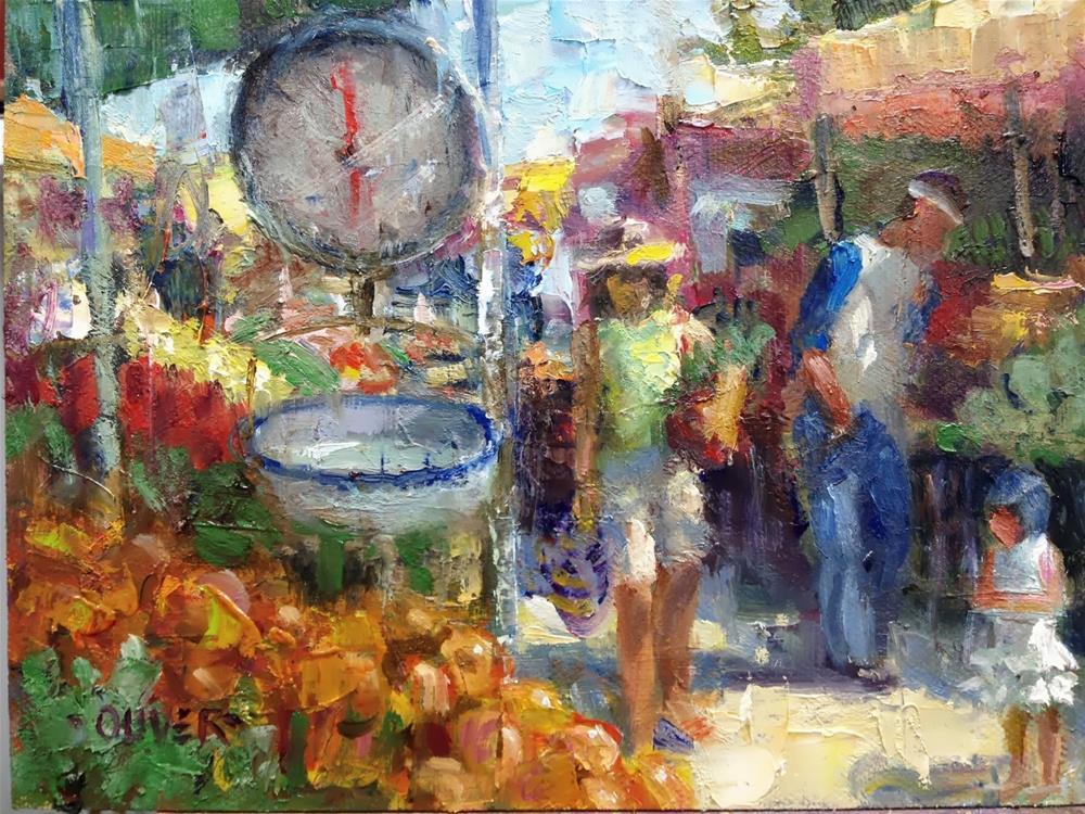 """""""Farmers Market #3"""" original fine art by Julie Ford Oliver"""