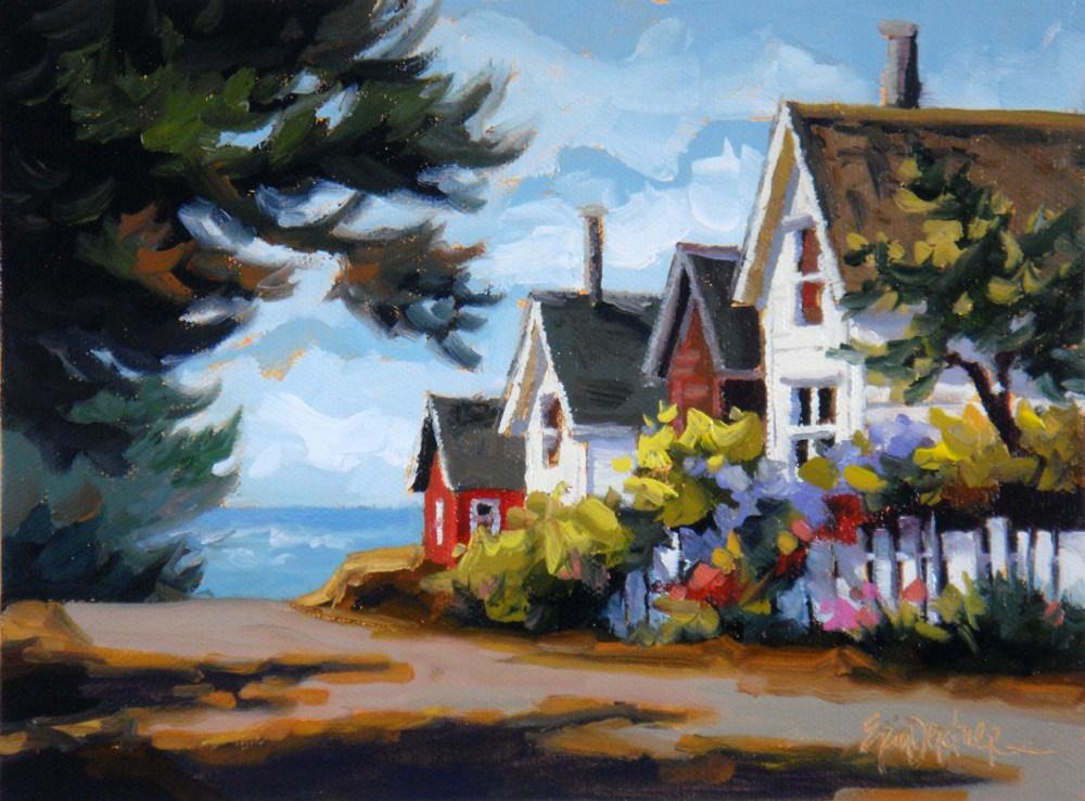 """""""Happy Street"""" original fine art by Erin Dertner"""