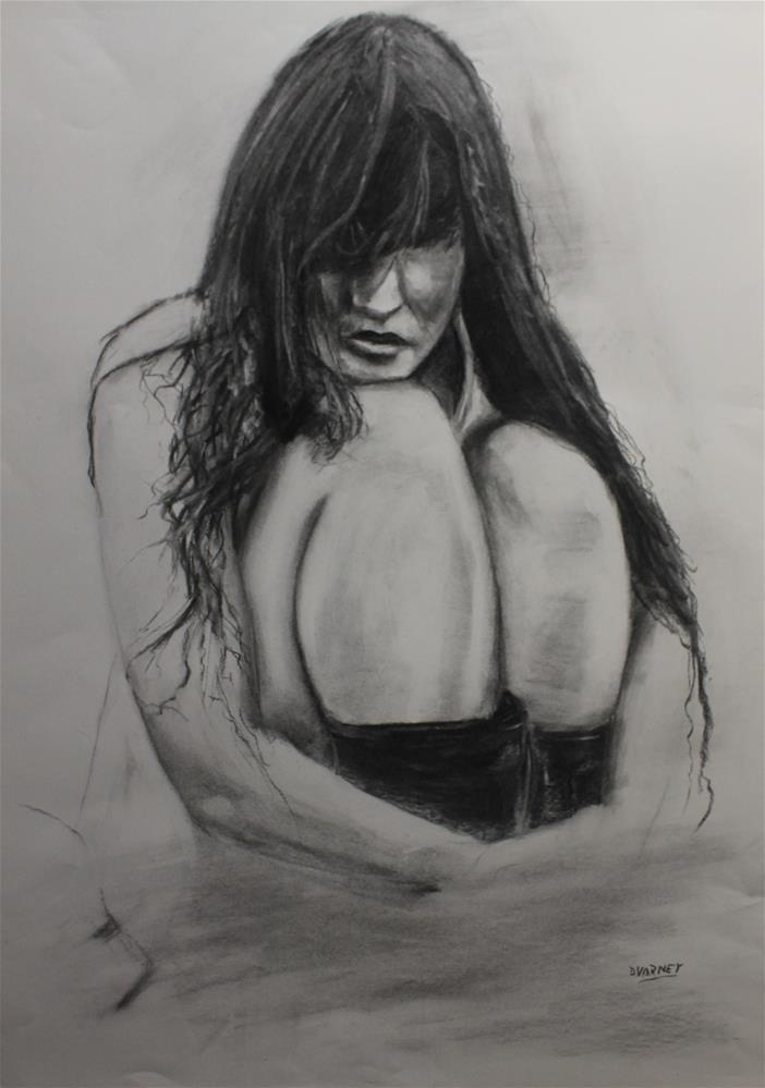 """Woman Crouched"" original fine art by Daniel Varney"
