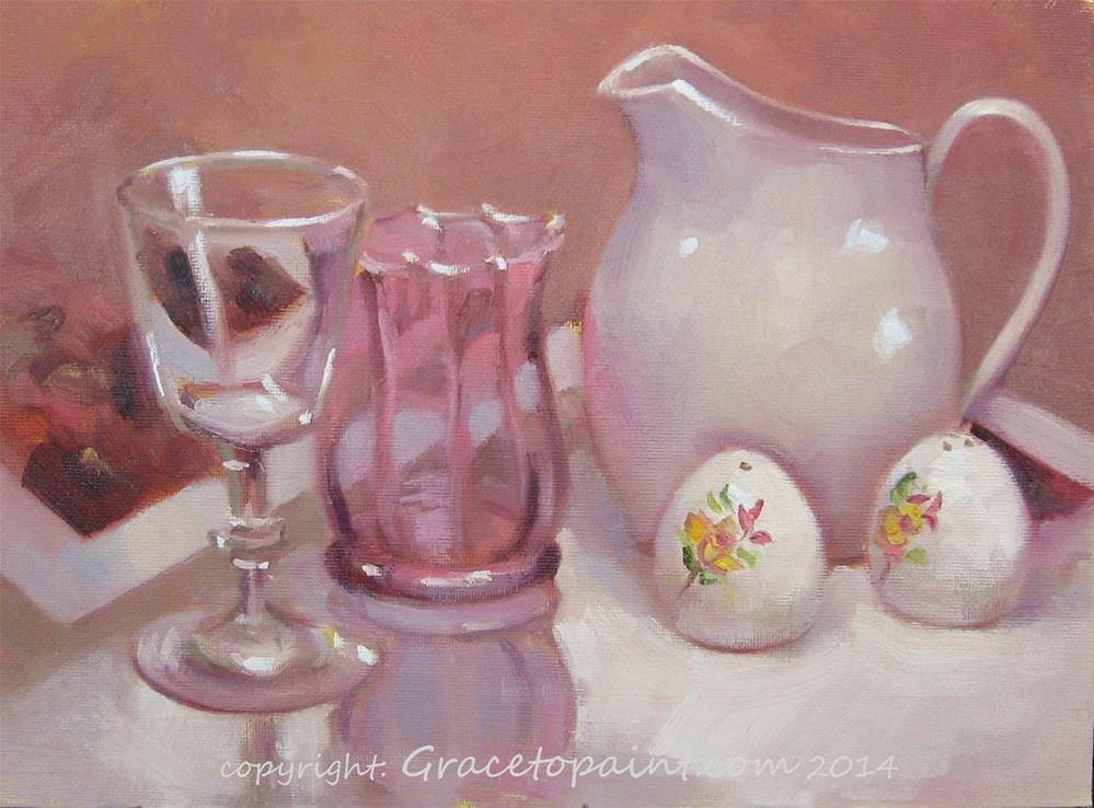 """Glass and Ceramics"" original fine art by Maresa Lilley"