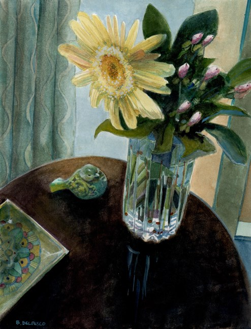 """Watercolor: Vanilla Sun (& 5 art book gift ideas for watercolor & sketch artists)"" original fine art by Belinda Del Pesco"