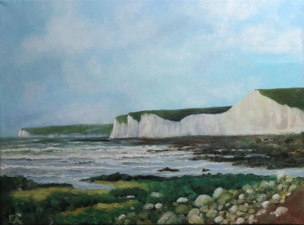 """Sussex Coast"" original fine art by Elizabeth Elgin"