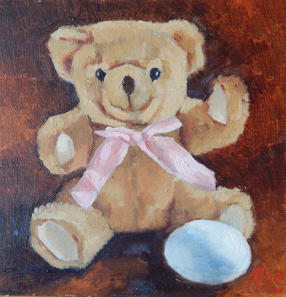 """Still Life of Teddy Bear"" original fine art by Megan Schembre"