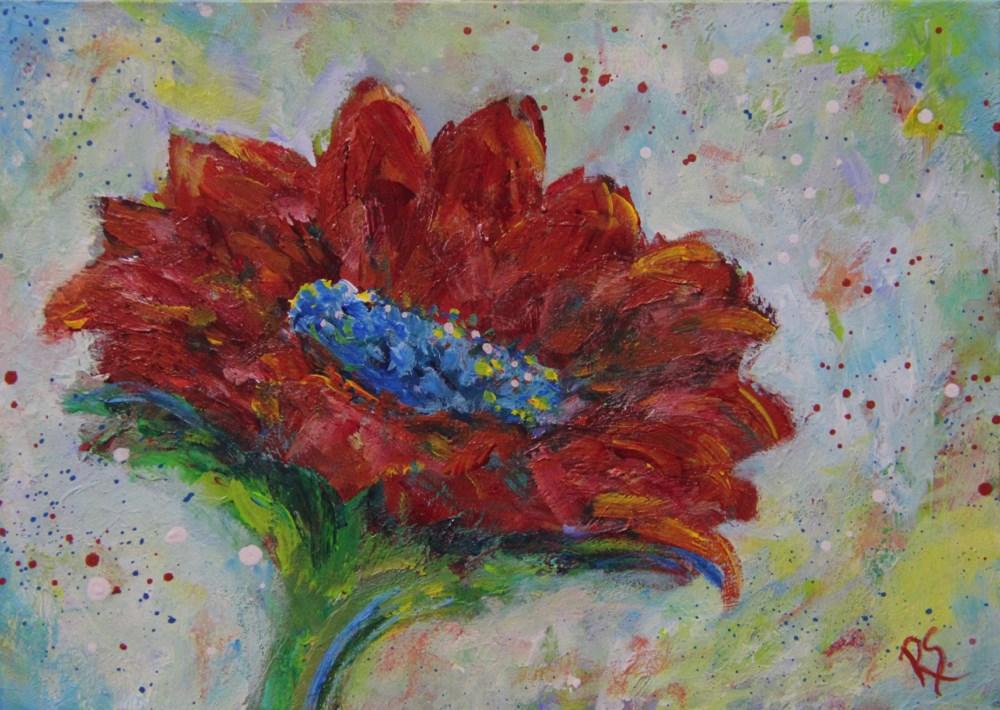 """""""The Courage To Bloom"""" original fine art by Roberta Schmidt"""