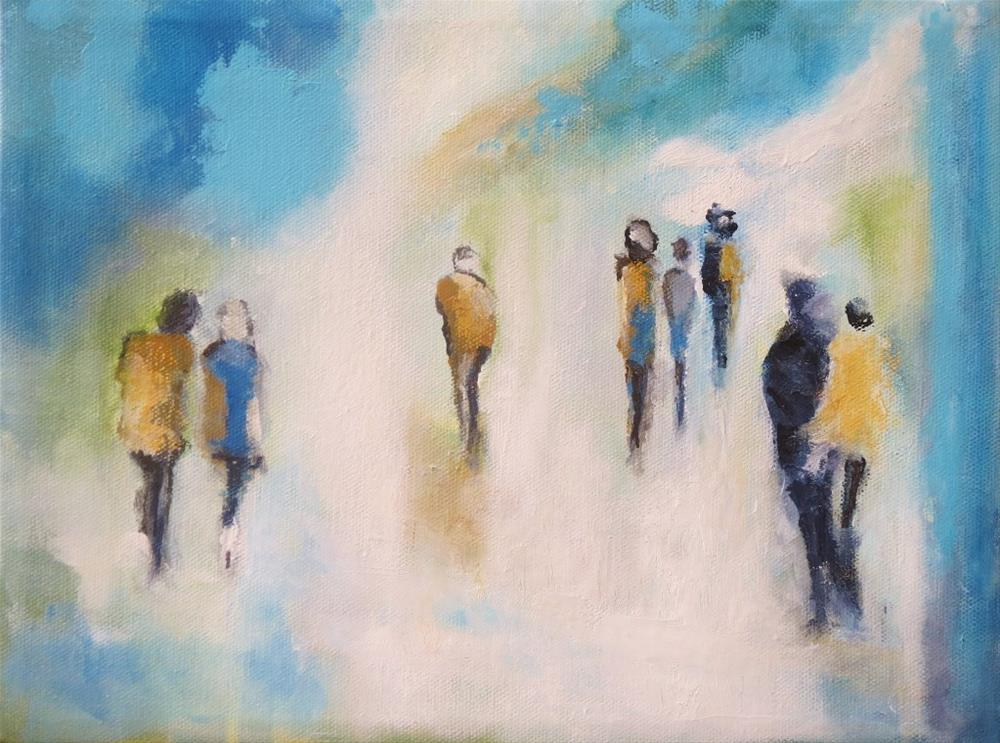 """Walking shadows (1)"" original fine art by Astrid Buchhammer"