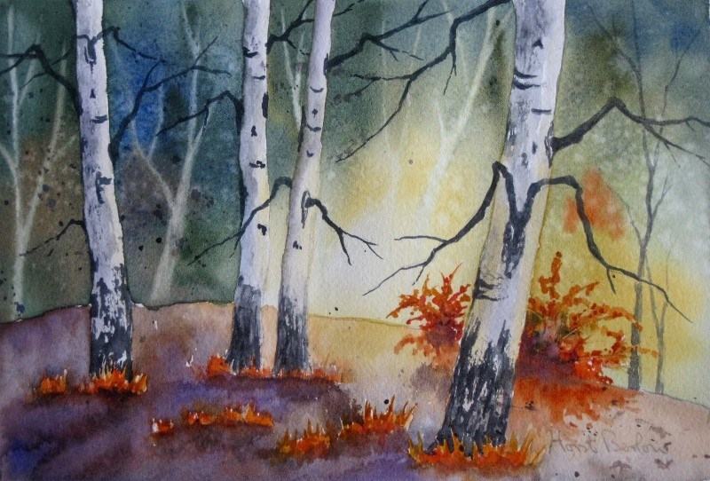 """Aspen Forest 3"" original fine art by Horst Berlow"