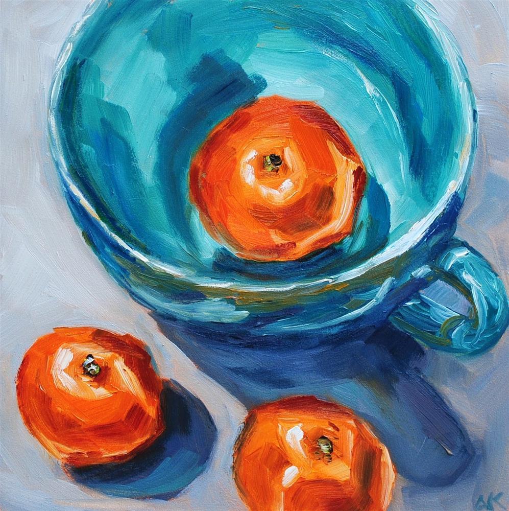 """Hiding Clementine"" original fine art by Alison Kolkebeck"