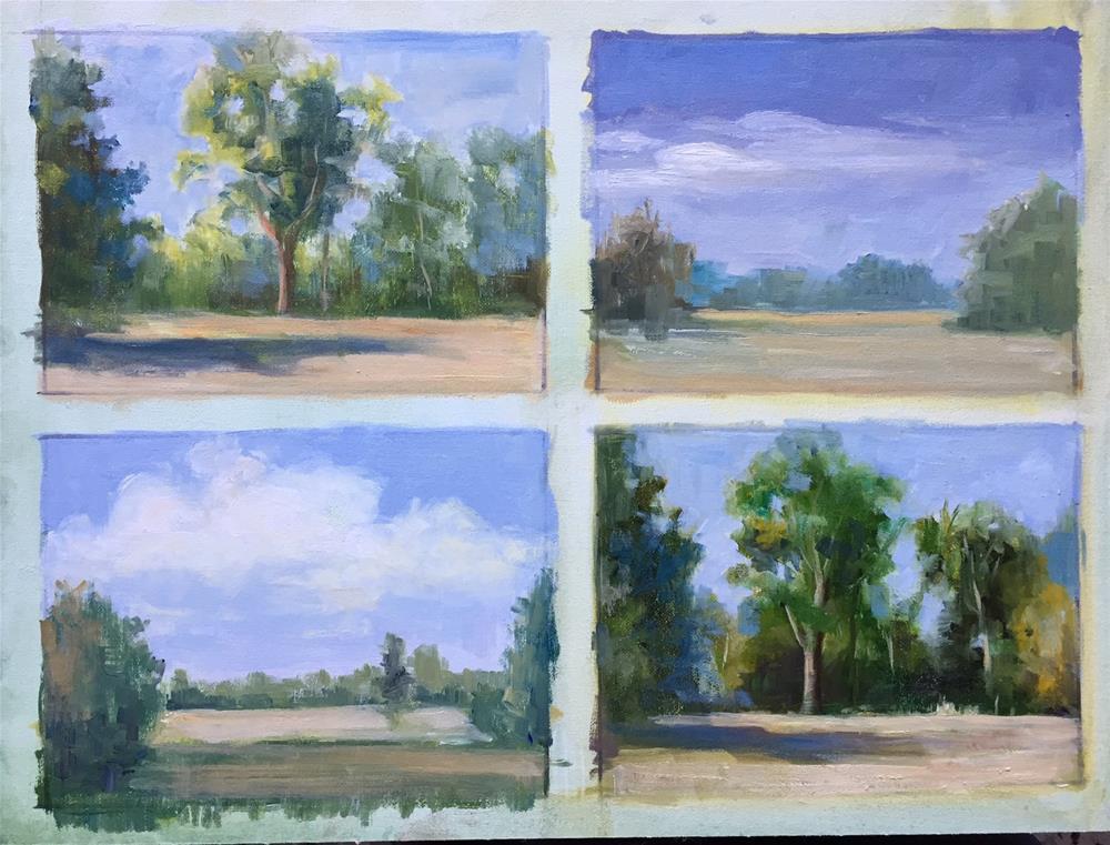 """4 days study"" original fine art by Glenda Shaw Brown"