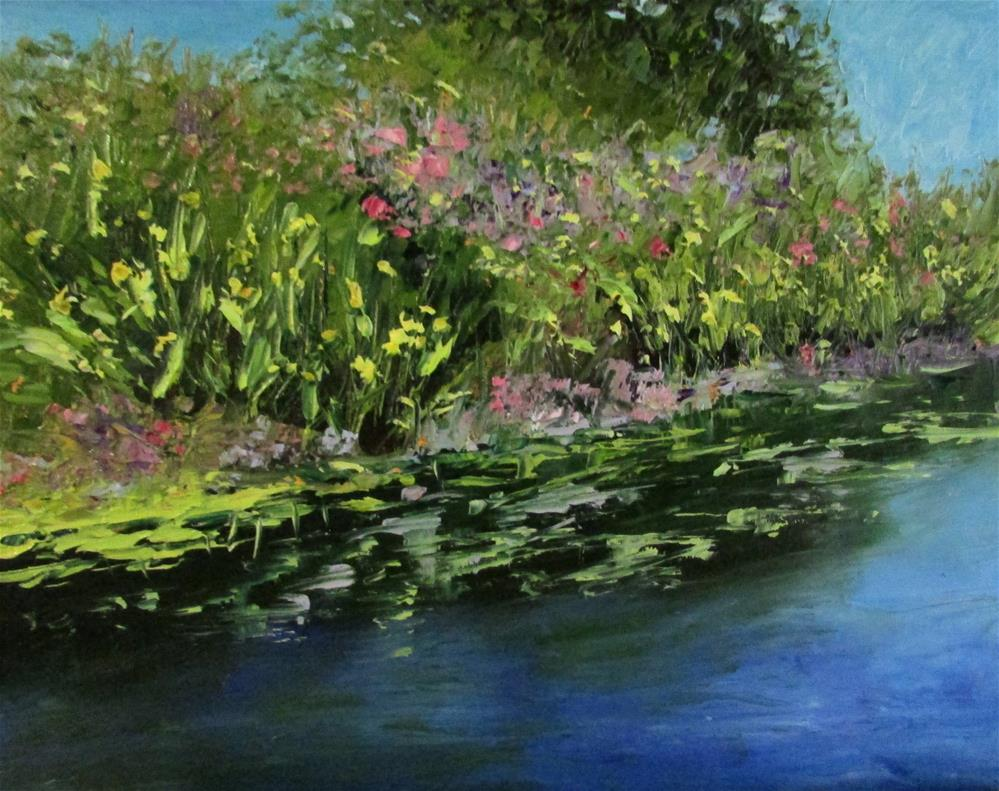 """8 x 10 inch oil Creekside"" original fine art by Linda Yurgensen"