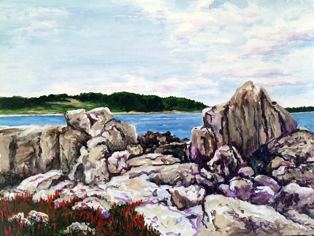 """On The Rocks"" original fine art by Nan Johnson"