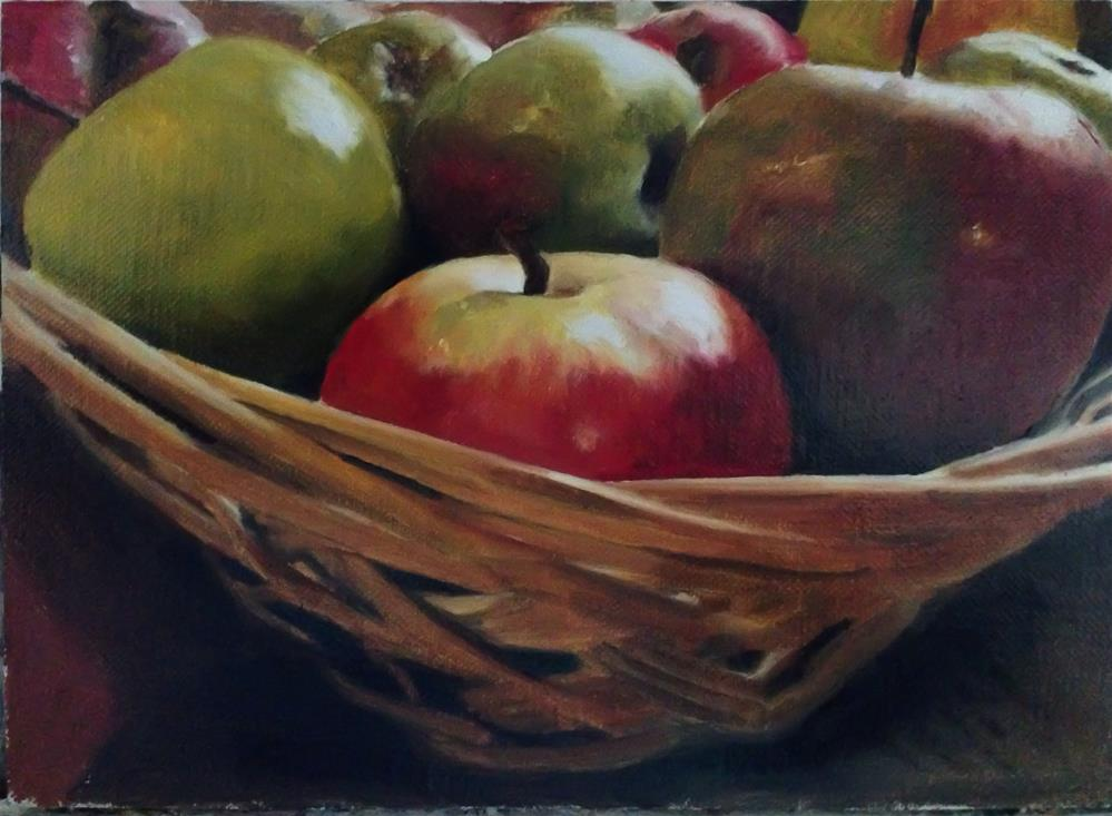 """Apple Basket"" original fine art by James Coates"