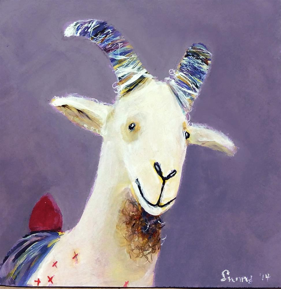 """""""Gerhard Goat"""" original fine art by Sunny Avocado"""