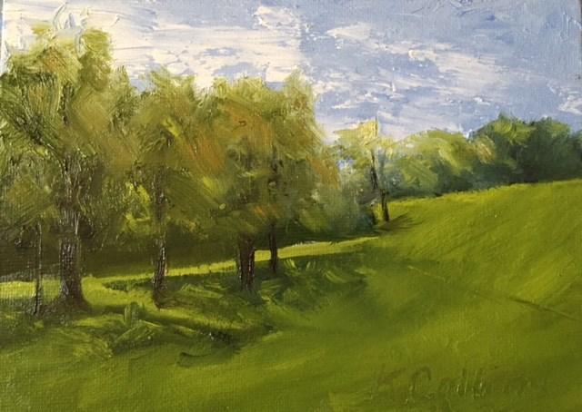 """Quail Hollow Fairway"" original fine art by Kathy Collins"