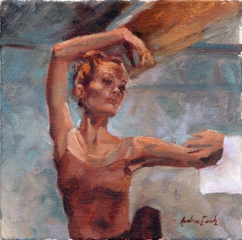 """""""Los Angeles Ballet: Solo"""" original fine art by Audra Esch"""