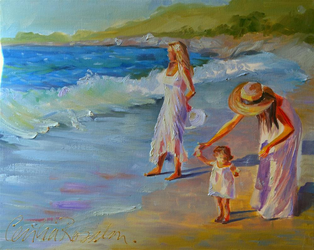 """FIRST SWIM"" original fine art by Cecilia Rosslee"