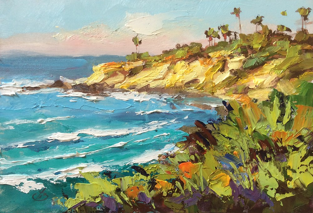 """LAGUNA BEACH PLEIN AIR"" original fine art by Tom Brown"
