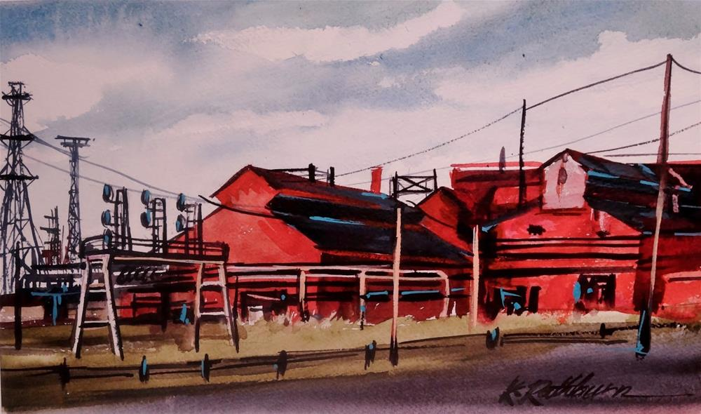 """Insights on Industry XII"" original fine art by Kathy Los-Rathburn"