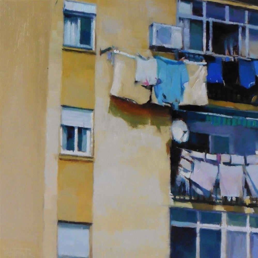 """Hung clothes #2"" original fine art by Víctor Tristante"