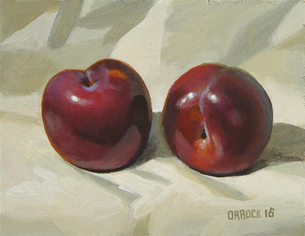 """Plums"" original fine art by Peter Orrock"