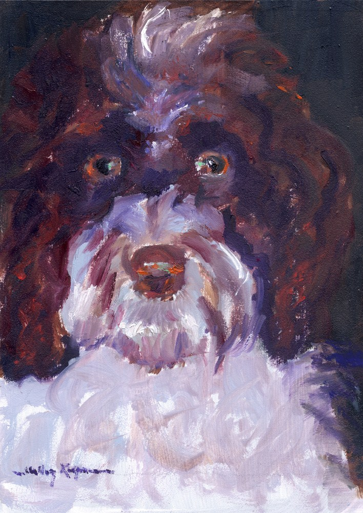 """Portrait of Tallulah"" original fine art by Shelley Koopmann"