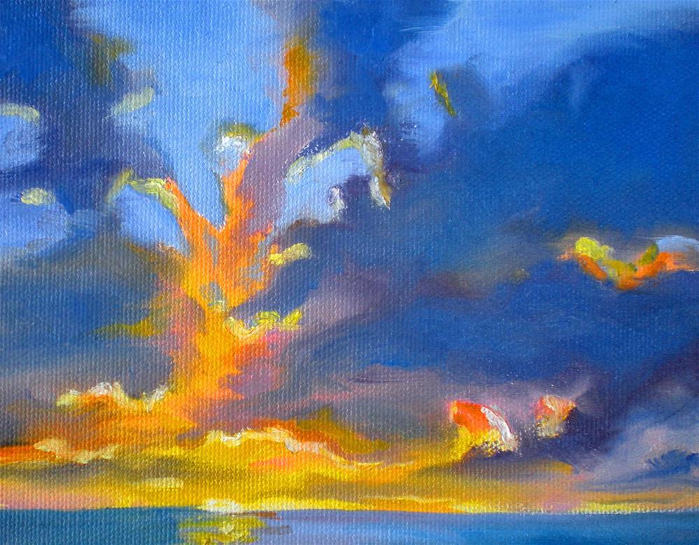 """Late Afternoon Clouds  - 150529s"" original fine art by richard rochkovsky"
