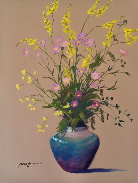 """Wildflowers"" original fine art by Jamie Williams Grossman"
