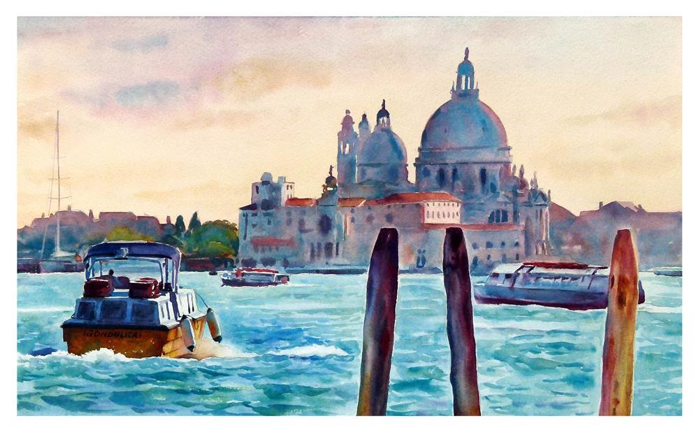 """""""Heading into Venice."""" original fine art by Graham Berry"""