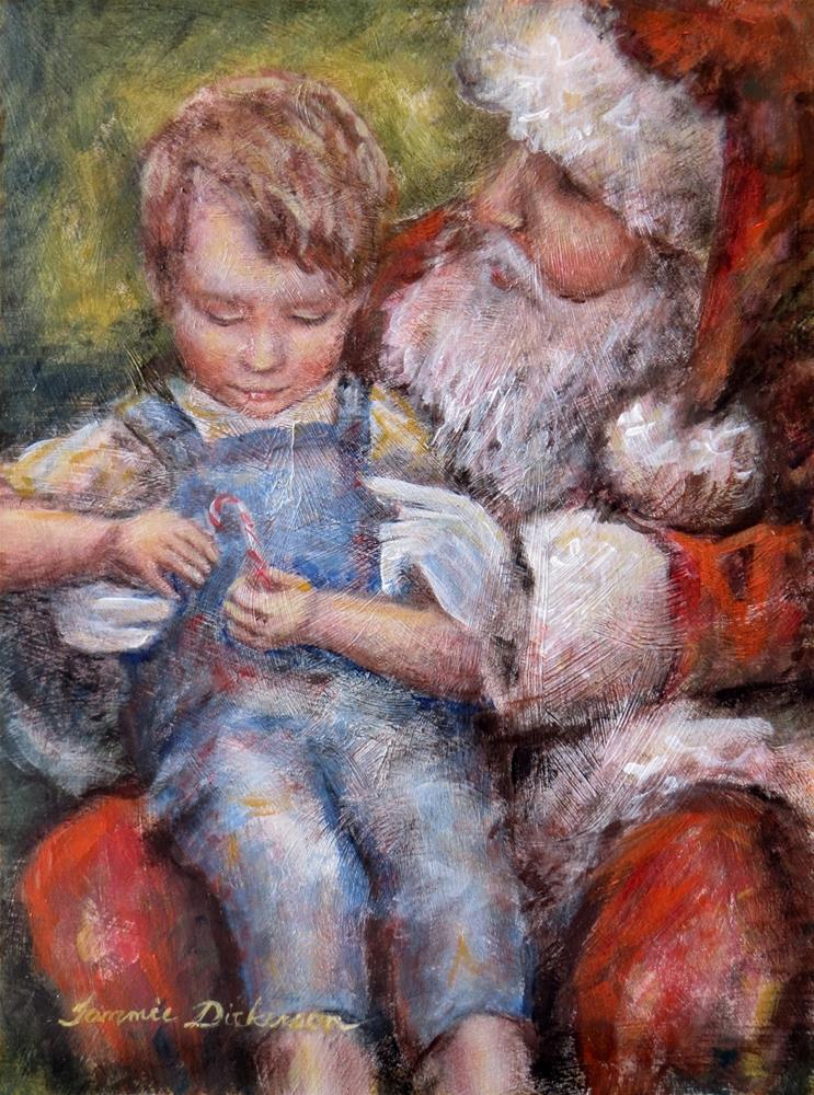 """On Santa's Lap"" original fine art by Tammie Dickerson"