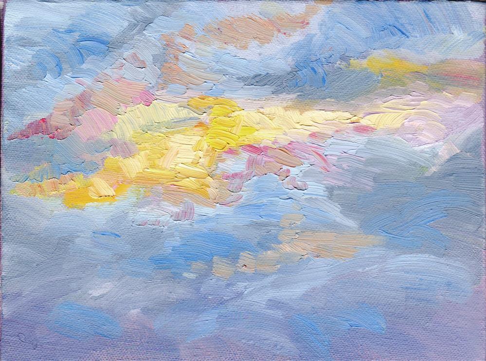 """WINTER SUNRISE II"" original fine art by Karen E Lewis"