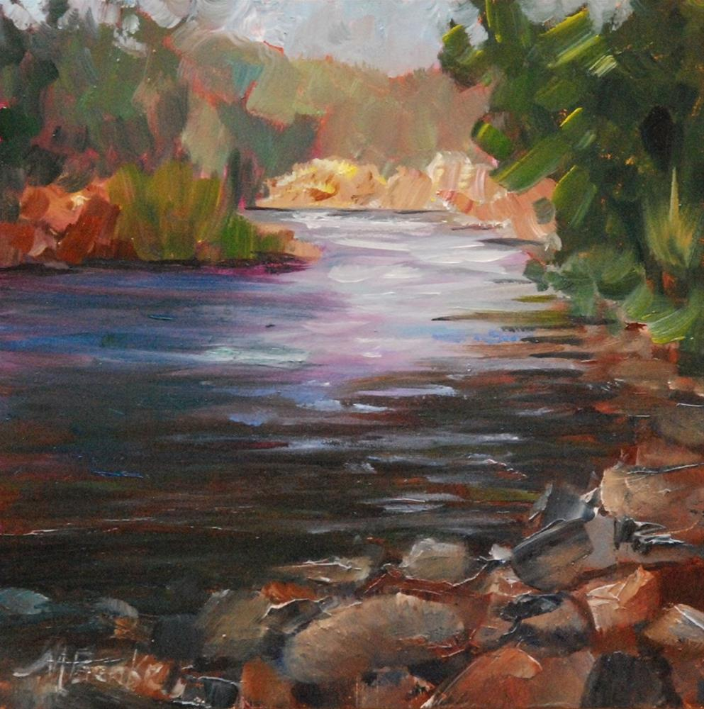 """River Light"" original fine art by Mary Benke"