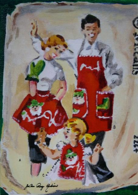 """Christmas Cookies"" original fine art by JoAnne Perez Robinson"