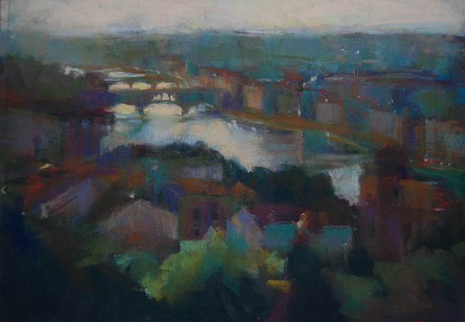 """Florence, Italy"" original fine art by Margaret Dyer"