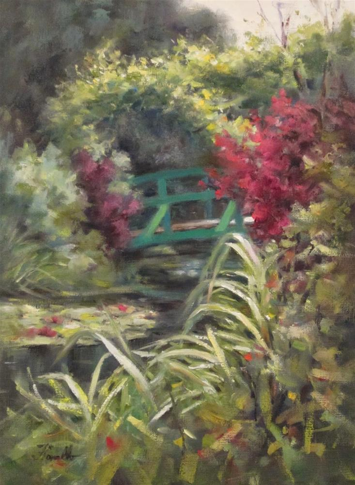 """Monet's Passion"" original fine art by Pat Fiorello"