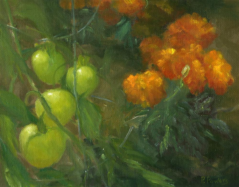 """Summer Garden"" original fine art by Patricia J. Powers"
