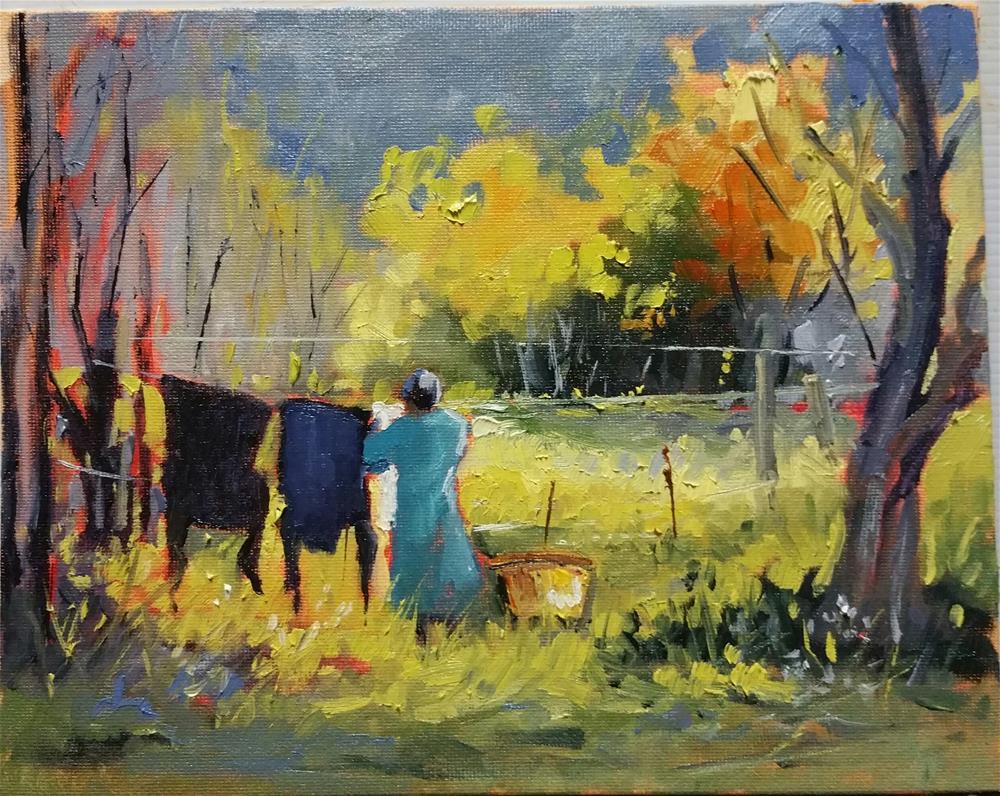 """""""Matjesriver"""" original fine art by Erika Van Zyl"""