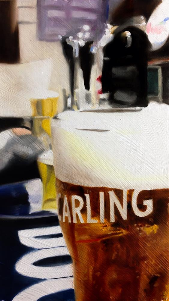 """A Lovely Pint"" original fine art by James Coates"