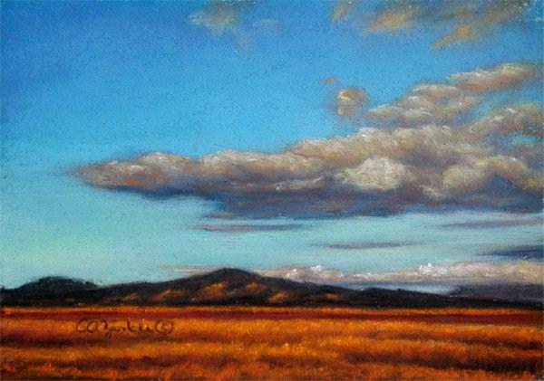 """Under the Dark Cloud"" original fine art by Carol Zirkle"