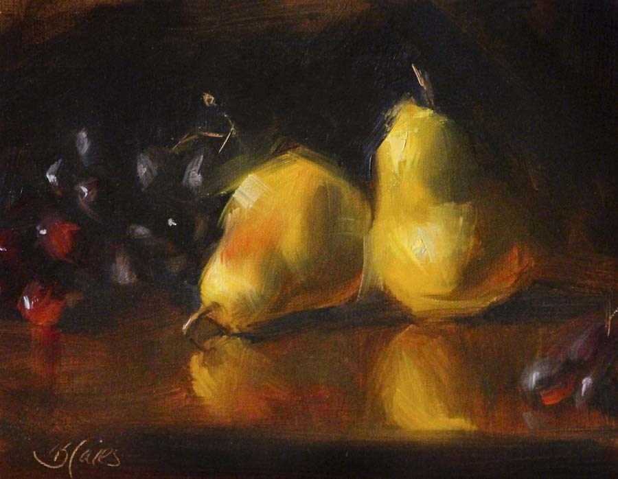 """Hill Country Pears"" original fine art by Pamela Blaies"