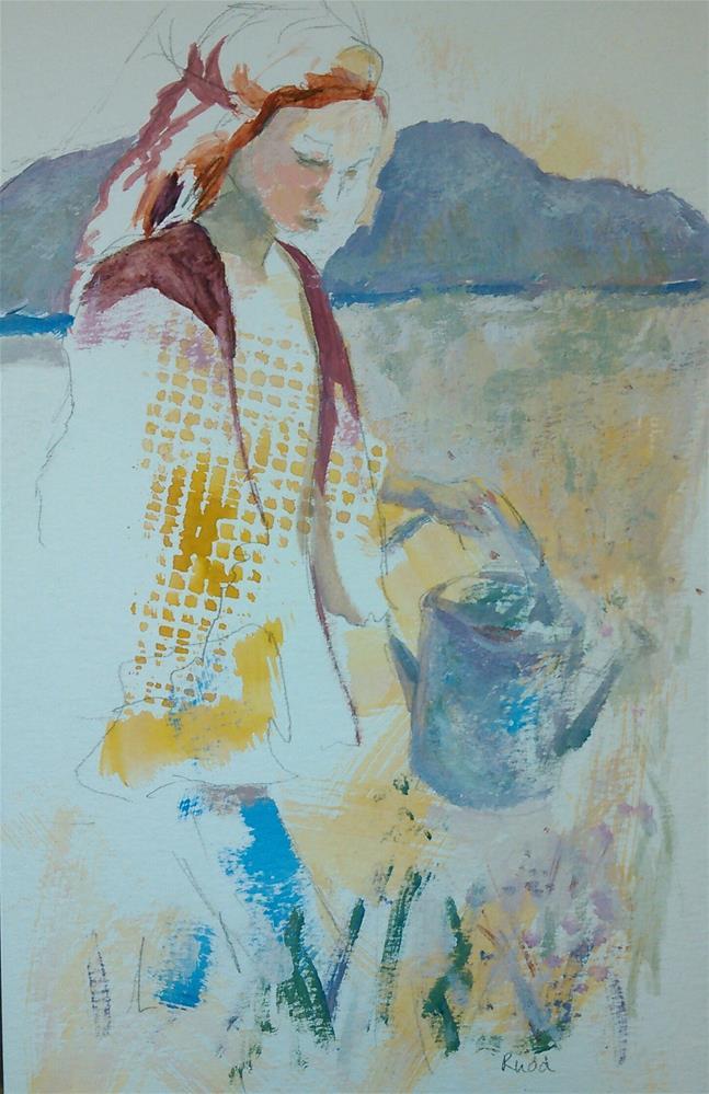 """The Solitude of Gardening"" original fine art by Ann Rudd"