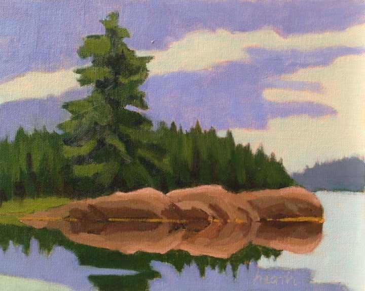 """Passage to Seal Bay"" original fine art by Bobbi Heath"